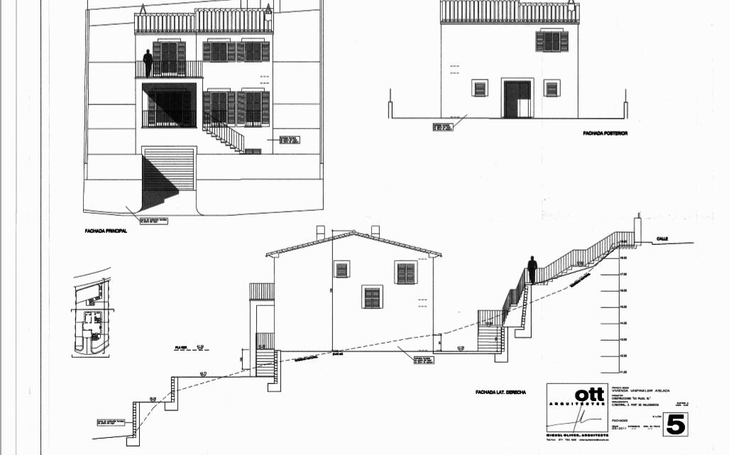 Plano fachada lateral derecha 1