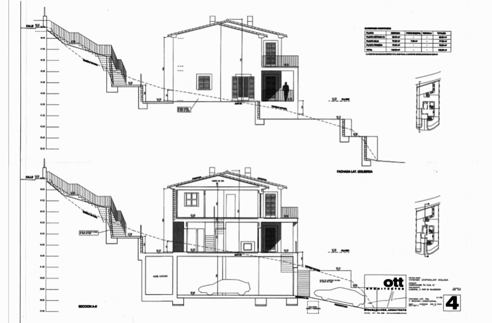 Plano fachada lateral izquierda 1