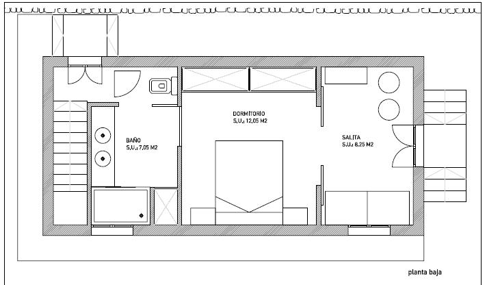 Plano casa 2 (dimensiones)