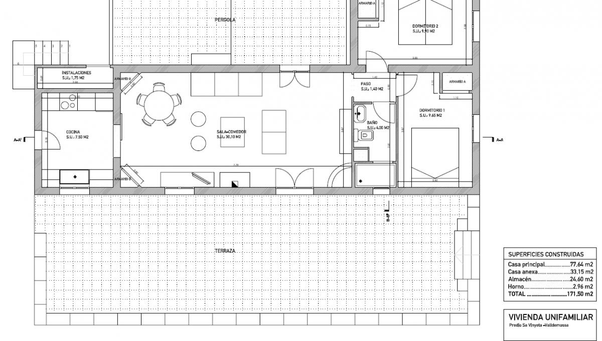Plano casa 1 (dimensiones)